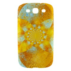 Gold Blue Abstract Blossom Samsung Galaxy S III Hardshell Case