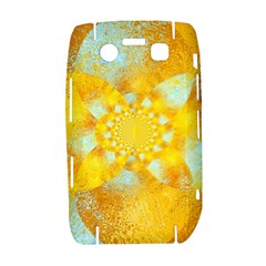 Gold Blue Abstract Blossom Bold 9700