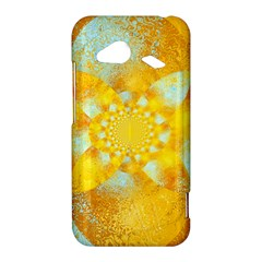 Gold Blue Abstract Blossom HTC Droid Incredible 4G LTE Hardshell Case