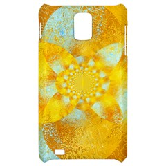 Gold Blue Abstract Blossom Samsung Infuse 4G Hardshell Case