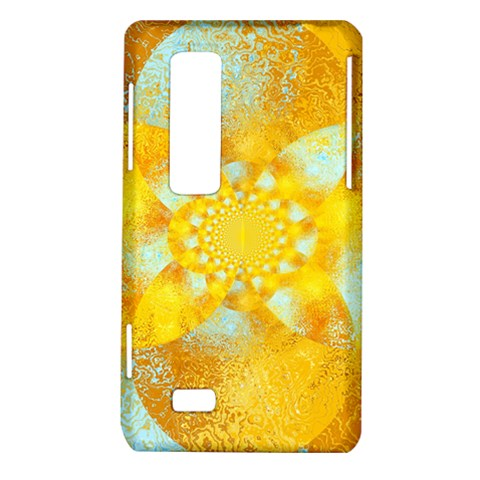 Gold Blue Abstract Blossom LG Optimus Thrill 4G P925