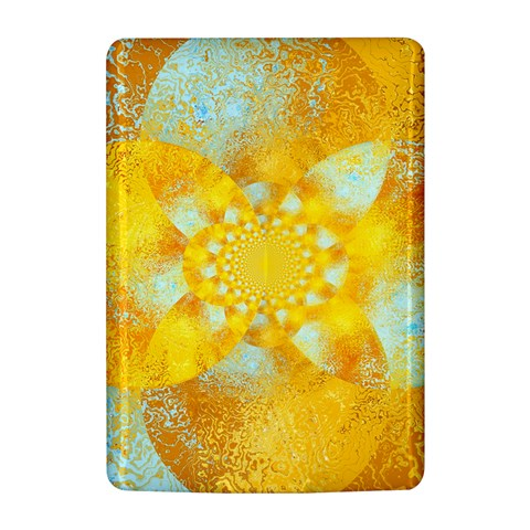 Gold Blue Abstract Blossom Kindle 4