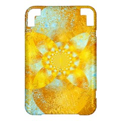 Gold Blue Abstract Blossom Kindle 3 Keyboard 3G