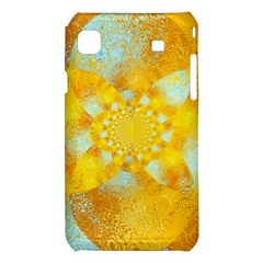 Gold Blue Abstract Blossom Samsung Galaxy S i9008 Hardshell Case