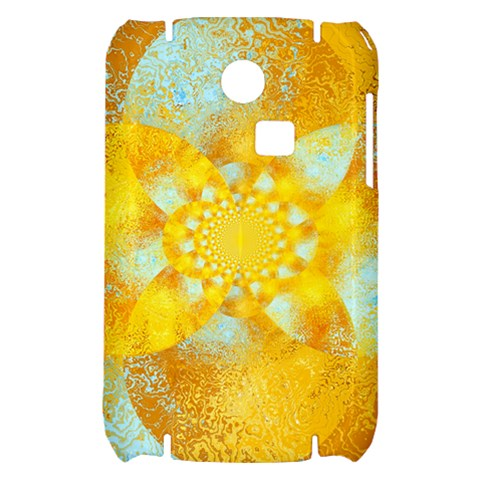 Gold Blue Abstract Blossom Samsung S3350 Hardshell Case