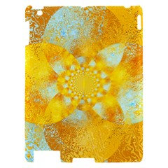 Gold Blue Abstract Blossom Apple iPad 2 Hardshell Case