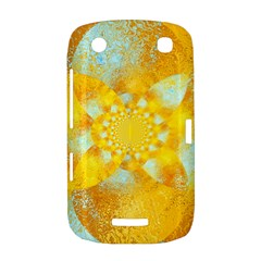 Gold Blue Abstract Blossom BlackBerry Curve 9380