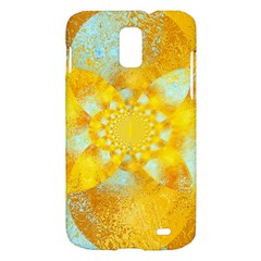 Gold Blue Abstract Blossom Samsung Galaxy S II Skyrocket Hardshell Case
