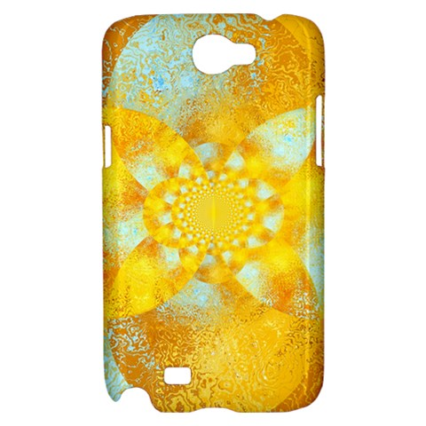 Gold Blue Abstract Blossom Samsung Galaxy Note 2 Hardshell Case