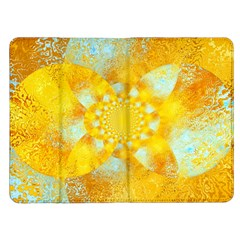 Gold Blue Abstract Blossom Kindle Fire (1st Gen) Flip Case