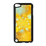 Gold Blue Abstract Blossom Apple iPod Touch 5 Case (Black) Front