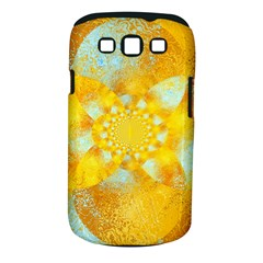 Gold Blue Abstract Blossom Samsung Galaxy S Iii Classic Hardshell Case (pc+silicone)