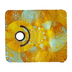 Gold Blue Abstract Blossom Samsung Galaxy S  III Flip 360 Case