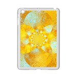 Gold Blue Abstract Blossom iPad Mini 2 Enamel Coated Cases Front