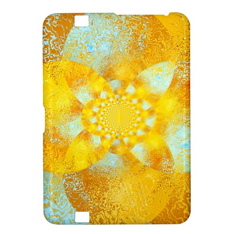Gold Blue Abstract Blossom Kindle Fire HD 8.9