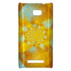Gold Blue Abstract Blossom HTC 8X