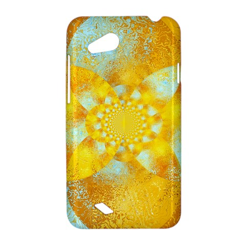 Gold Blue Abstract Blossom HTC Desire VC (T328D) Hardshell Case