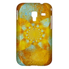 Gold Blue Abstract Blossom Samsung Galaxy Ace Plus S7500 Hardshell Case