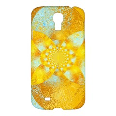 Gold Blue Abstract Blossom Samsung Galaxy S4 I9500/I9505 Hardshell Case