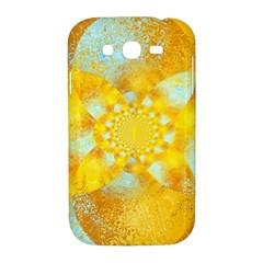 Gold Blue Abstract Blossom Samsung Galaxy Grand DUOS I9082 Hardshell Case