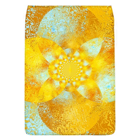 Gold Blue Abstract Blossom Flap Covers (L)
