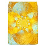 Gold Blue Abstract Blossom Flap Covers (L)  Front