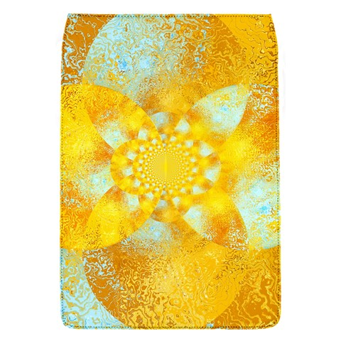 Gold Blue Abstract Blossom Flap Covers (S)