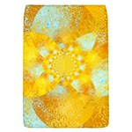 Gold Blue Abstract Blossom Flap Covers (S)  Front