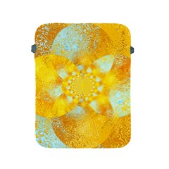 Gold Blue Abstract Blossom Apple Ipad 2/3/4 Protective Soft Cases