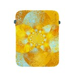 Gold Blue Abstract Blossom Apple iPad 2/3/4 Protective Soft Cases Front