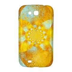 Gold Blue Abstract Blossom Samsung Galaxy Grand GT-I9128 Hardshell Case