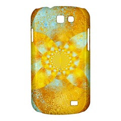Gold Blue Abstract Blossom Samsung Galaxy Express I8730 Hardshell Case