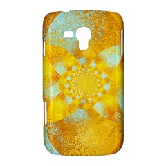 Gold Blue Abstract Blossom Samsung Galaxy Duos I8262 Hardshell Case