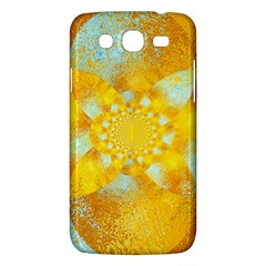 Gold Blue Abstract Blossom Samsung Galaxy Mega 5.8 I9152 Hardshell Case