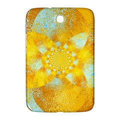 Gold Blue Abstract Blossom Samsung Galaxy Note 8.0 N5100 Hardshell Case