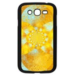 Gold Blue Abstract Blossom Samsung Galaxy Grand DUOS I9082 Case (Black) Front