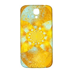 Gold Blue Abstract Blossom Samsung Galaxy S4 I9500/i9505  Hardshell Back Case