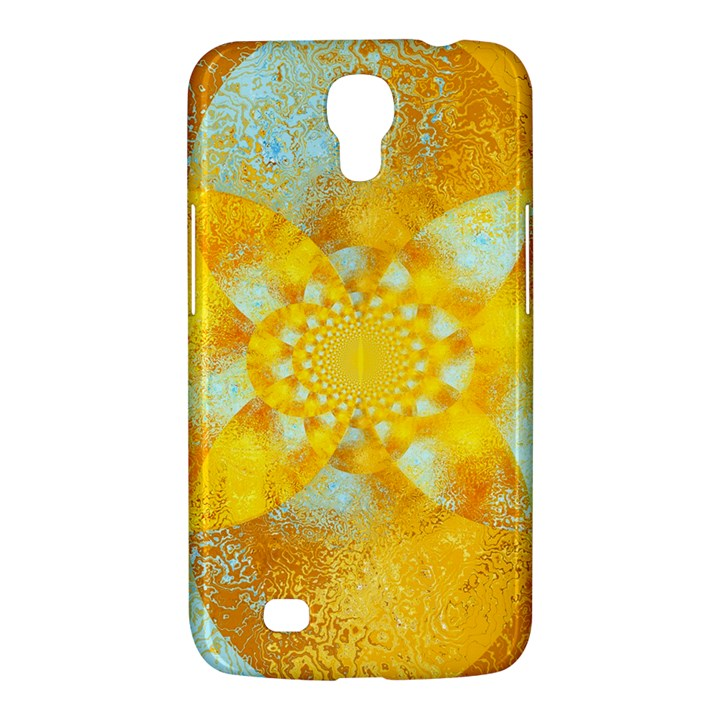 Gold Blue Abstract Blossom Samsung Galaxy Mega 6.3  I9200 Hardshell Case