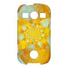 Gold Blue Abstract Blossom Samsung Galaxy S7710 Xcover 2 Hardshell Case