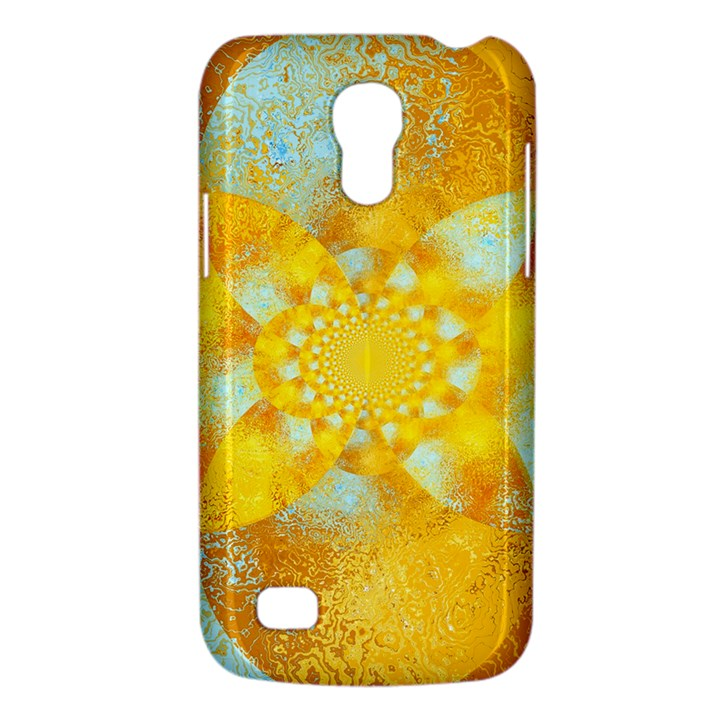 Gold Blue Abstract Blossom Galaxy S4 Mini