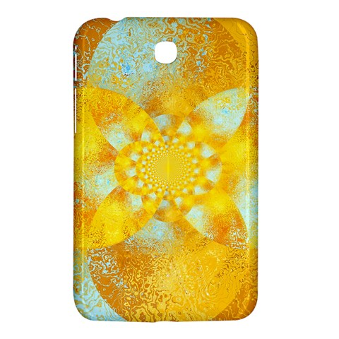 Gold Blue Abstract Blossom Samsung Galaxy Tab 3 (7 ) P3200 Hardshell Case