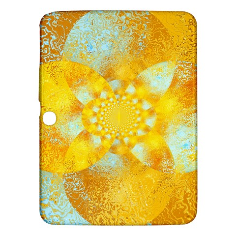 Gold Blue Abstract Blossom Samsung Galaxy Tab 3 (10.1 ) P5200 Hardshell Case
