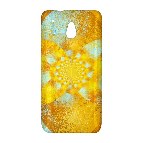 Gold Blue Abstract Blossom HTC One Mini (601e) M4 Hardshell Case