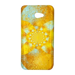 Gold Blue Abstract Blossom HTC Butterfly S/HTC 9060 Hardshell Case