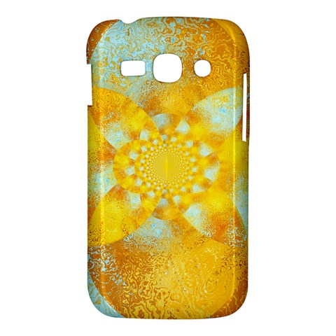 Gold Blue Abstract Blossom Samsung Galaxy Ace 3 S7272 Hardshell Case