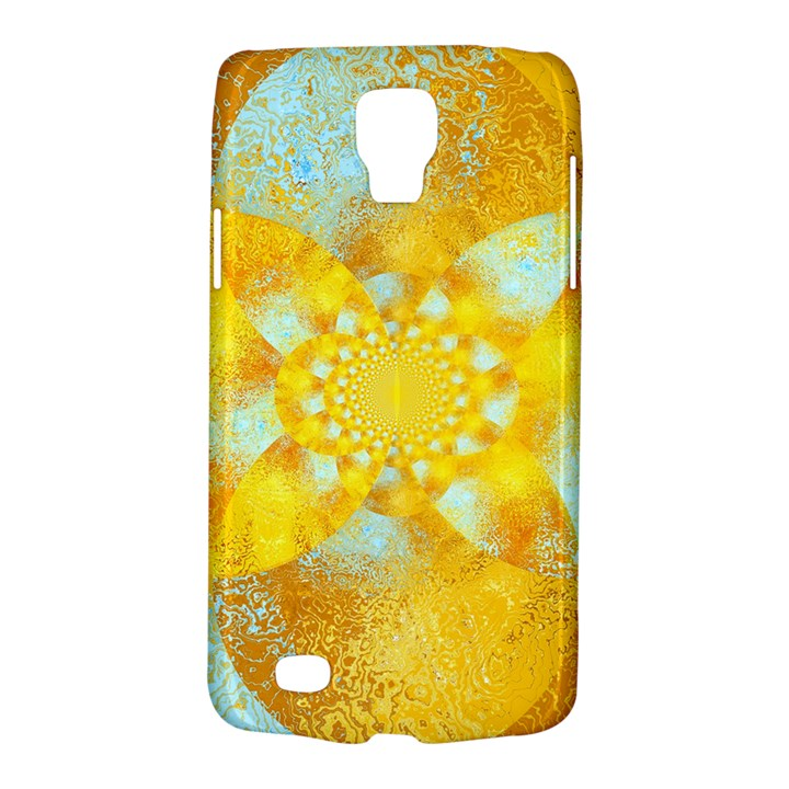 Gold Blue Abstract Blossom Galaxy S4 Active