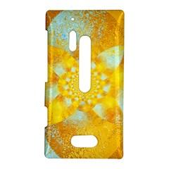 Gold Blue Abstract Blossom Nokia Lumia 928