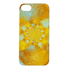 Gold Blue Abstract Blossom Apple iPhone 5S/ SE Hardshell Case