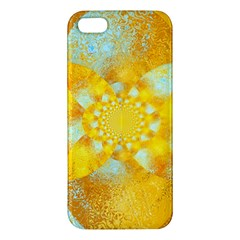 Gold Blue Abstract Blossom iPhone 5S/ SE Premium Hardshell Case