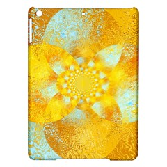 Gold Blue Abstract Blossom Ipad Air Hardshell Cases